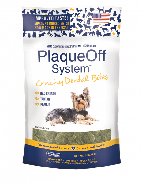 Plaque off - Small Dog Crunchy Dental Bites (3oz)
