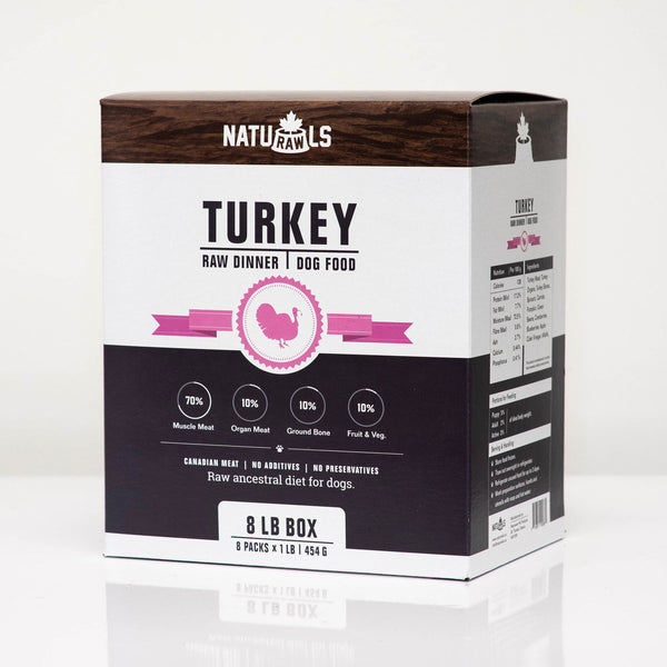 NatuRAWls - Frozen Raw Turkey with Veggies