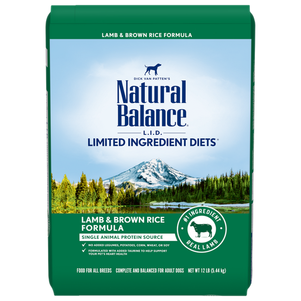 Natural Balance - Lamb & Rice (25lb)