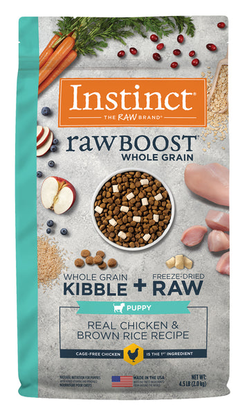 Instincts - Raw Boost with Whole Grains - Chicken & Brown Rice for Puppies