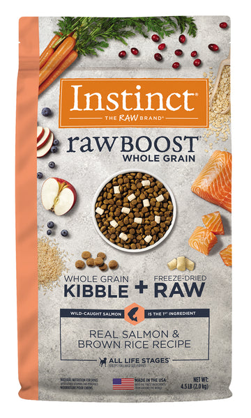 Instincts - Raw Boost with Whole Grains - Salmon & Brown Rice