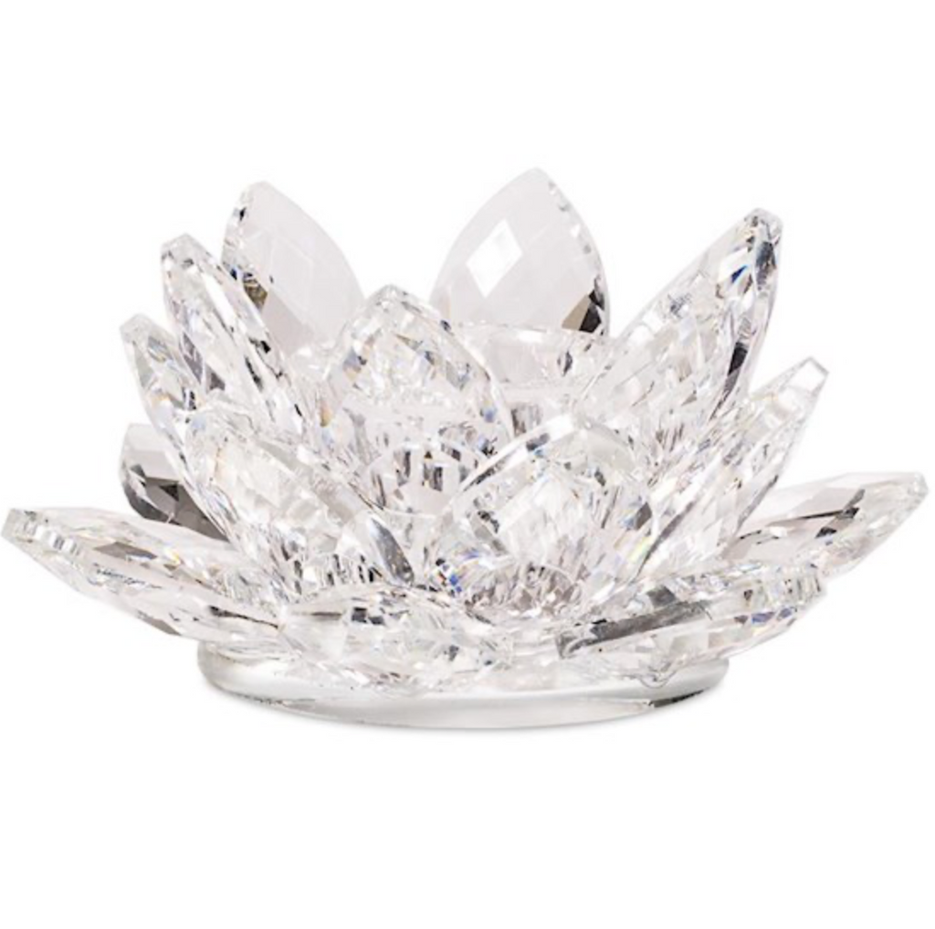 Lotus Candle Holder Crystal S - 3x8cm