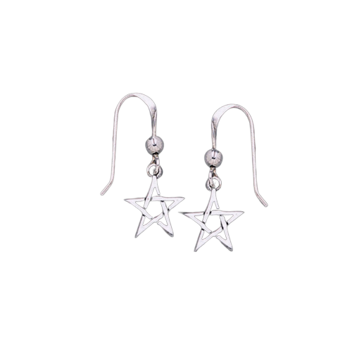 Pentagram Pentacle Earrings