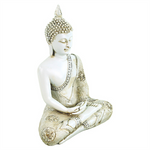 White Meditating Buddha