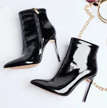 Load image into Gallery viewer, 2019 Women Boots for Women 2019 Spring And Autumn Pointed Toe High Heels Short Boots Stiletto Ladies Pure Color Fashion Shoes