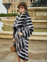 Load image into Gallery viewer, Arlenesain custom 2019 new special design chinchilla fur irregularly women trench coat
