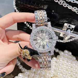 Luxury Brand Silver Diamond Woman Watch Ladies Stainless Steel Dress Watches Women Quartz Watches Dropshipping horloges vrouwen