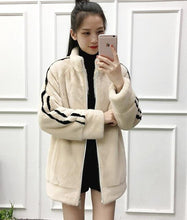 Load image into Gallery viewer, New imports of mink fur coat female long leisure mink fur women warm jacket
