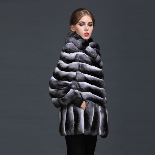 2017 Topest Luxury 100% Chinchilla Fur Ladies Winter Elegant New Style Arrival Mrs Russia Fur Coat