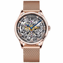 Load image into Gallery viewer, Agelocer Luxury Brand Watches for Men Skeleton Automatic Watches 80 Hours Power Reserve 18K Rose Gold Sport Watches relojes homb