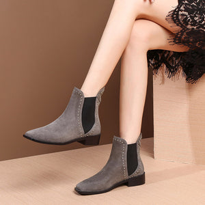 MYCOLEN Chelsea Boots Women Fashion Quality Women Ankle Boots Genuine Leahter Platform Ladies Shoes Bottes Femmes En Cuir