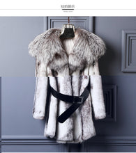 Load image into Gallery viewer, LVCHI Fur Story 2019 New Arrival Super Warm Winter Women's Real Silver Fox Fur Coat Natural Fox Color Full Sleeve Jacket