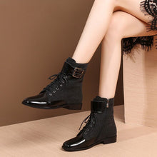 Load image into Gallery viewer, MYCOLEN 2018 Fashion Motocycle Booties Women Boots Luxury Designer Female Womens Ankle Boots Heel  Boots Autumn Shoes