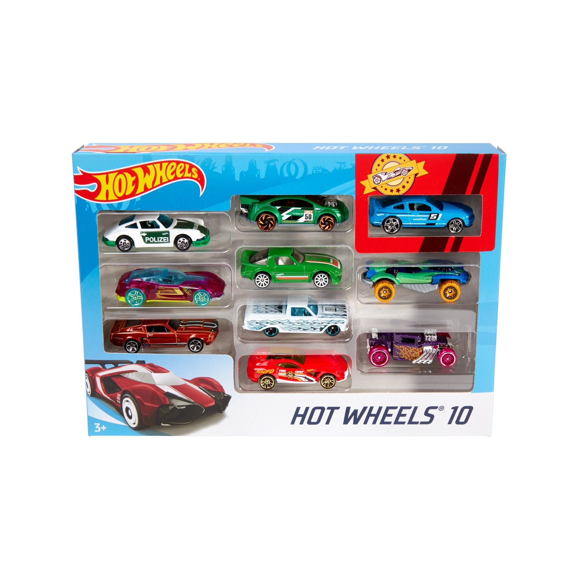 Hot Wheels - Paquete de 10 Autos