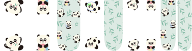 Panda Party - Kids Strips