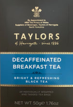 Load image into Gallery viewer, Taylors of Harrogate Decaffeinated Breakfast Tea