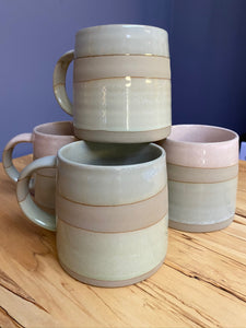 Rustic Striped Mugs