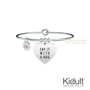 Bracciale Cuore Sai It With A Hug Kidult