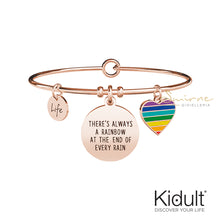 Carica l'immagine nel visualizzatore di Gallery, Bracciale There's Always A Rainbow At The End Of Every Rain Kidult