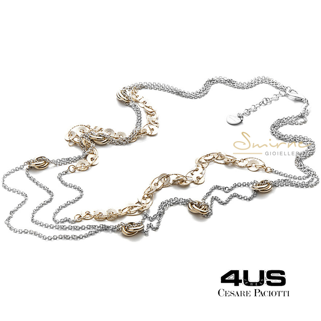 Collana donna 4US Gold knots