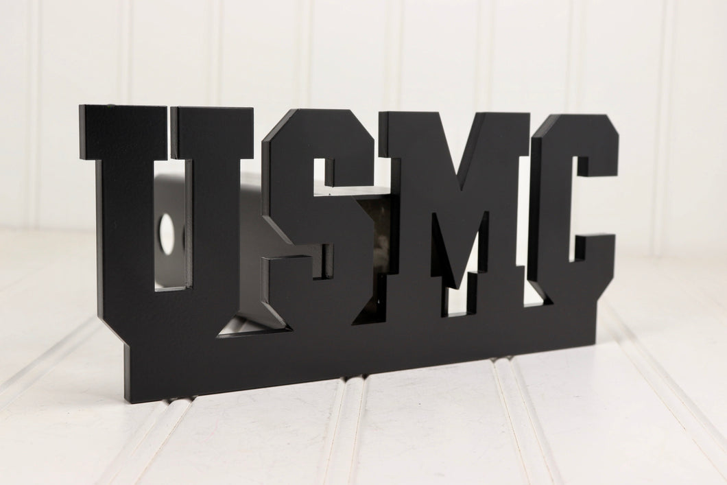 Matte Black USMC Hitch Cover, Free Shipping