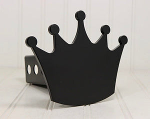 "Matte Black Crown Hitch Cover 2"", Ships Free"
