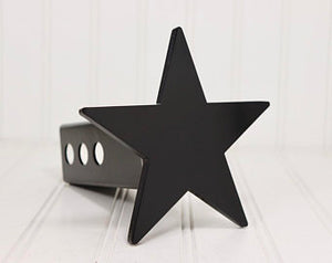 Matte Black Five Point Star Hitch Cover