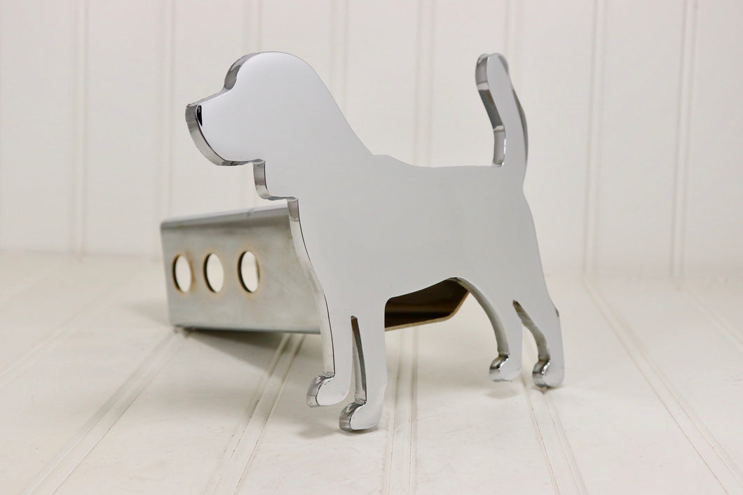 Chrome Beagle Hitch Cover