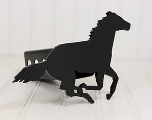 Matte Black Running Horse Hitch Cover