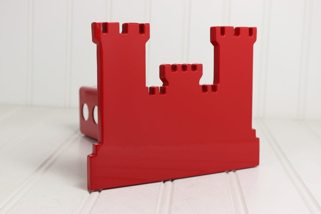 Red Engineers Castle Hitch Cover (silhouette)