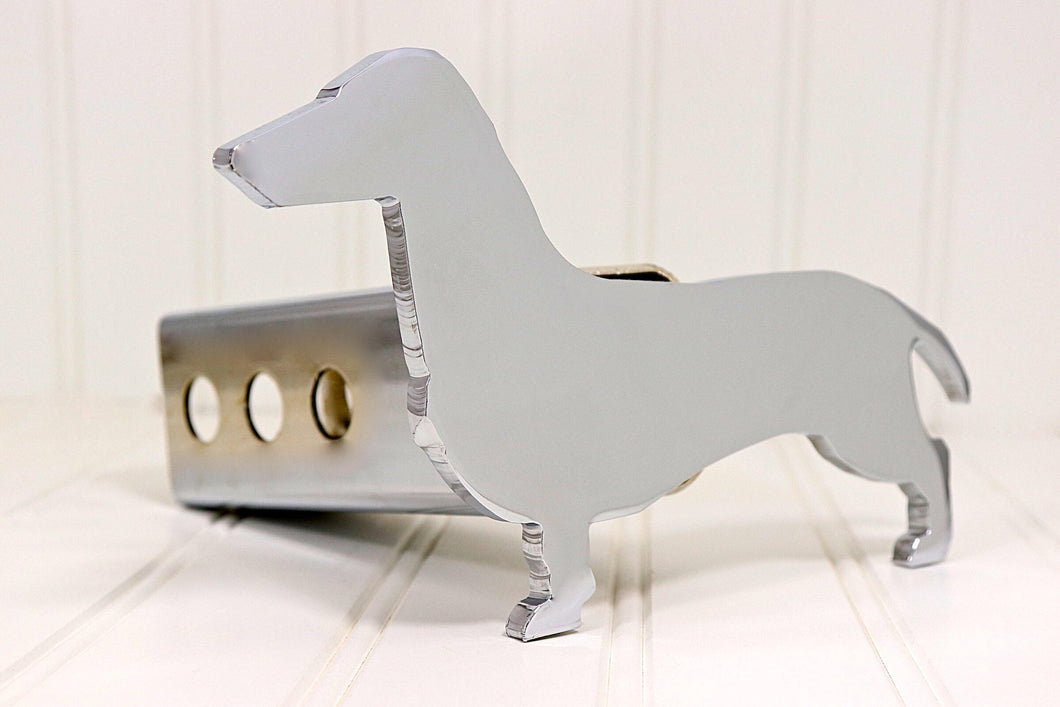 Chrome Dachshund Hitch Cover, Free Shipping