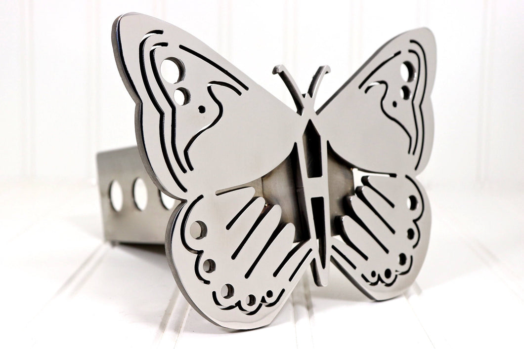 Stainless Butterfly Hitch Cover, Free Shipping