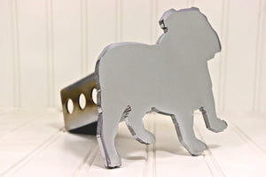 Chrome English Bulldog Hitch Cover, Free Shipping
