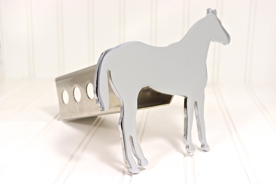 Chrome Quarter Horse Hitch Cover, Free Shipping