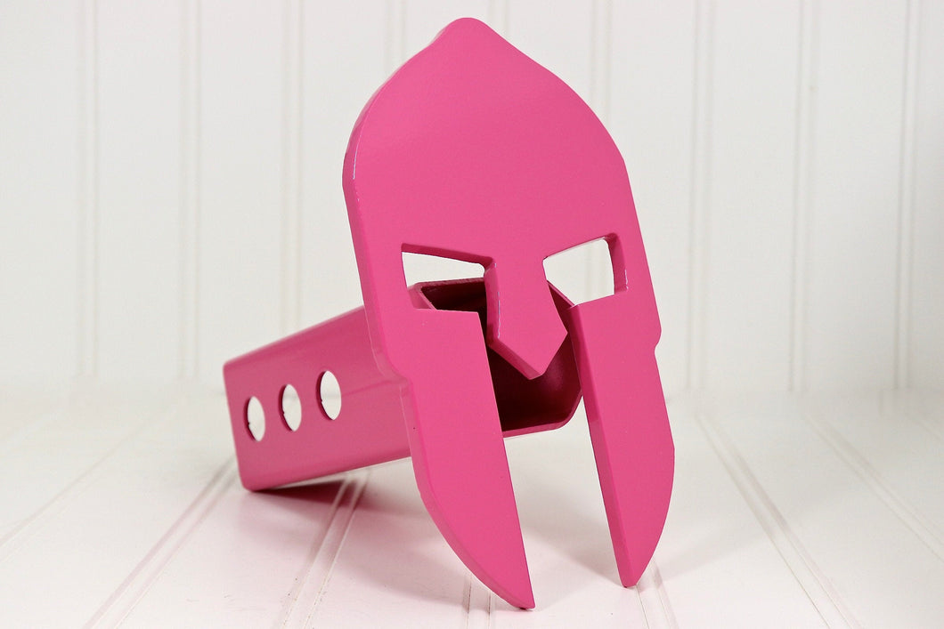 Pink Spartan Hitch Cover, Free Shipping