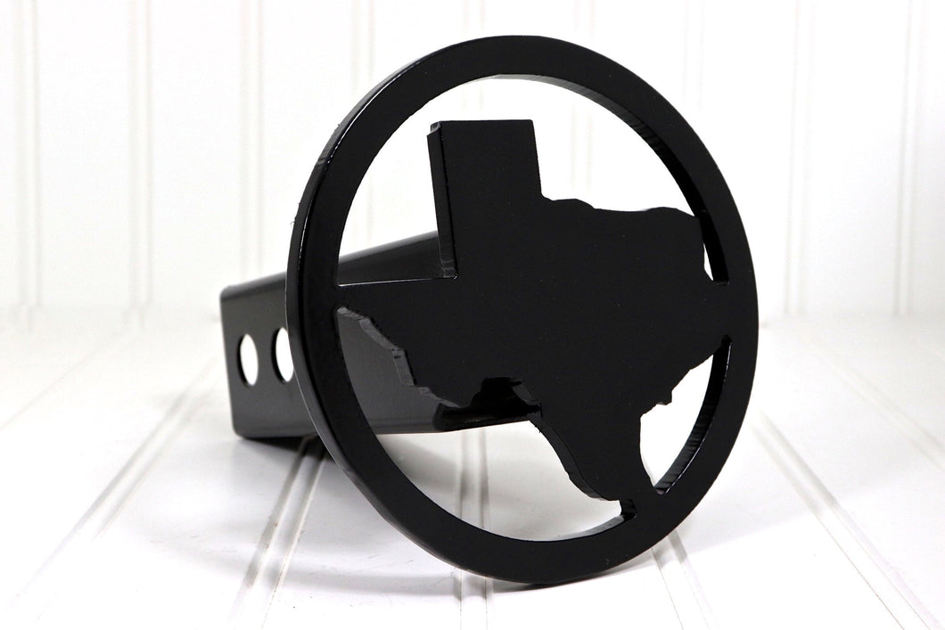 Black Circle Texas Hitch Cover, Free Shipping