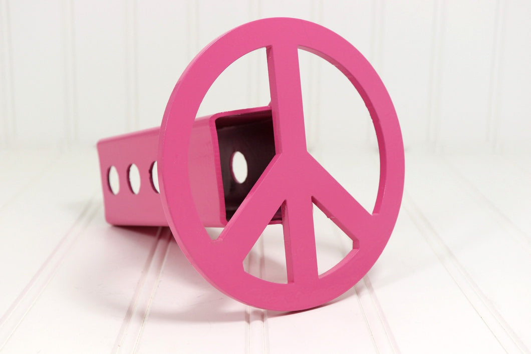 Pink Peace Hitch Cover, Free Shipping