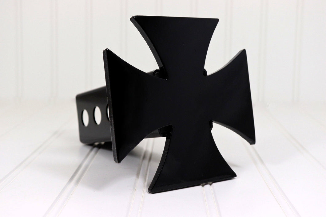 Black Iron Cross Hitch Cover, Free Shipping