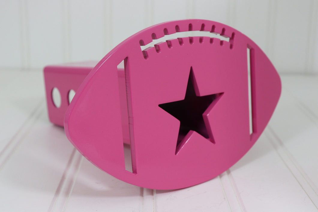 Pink Football Hitch Cover, Free Shipping
