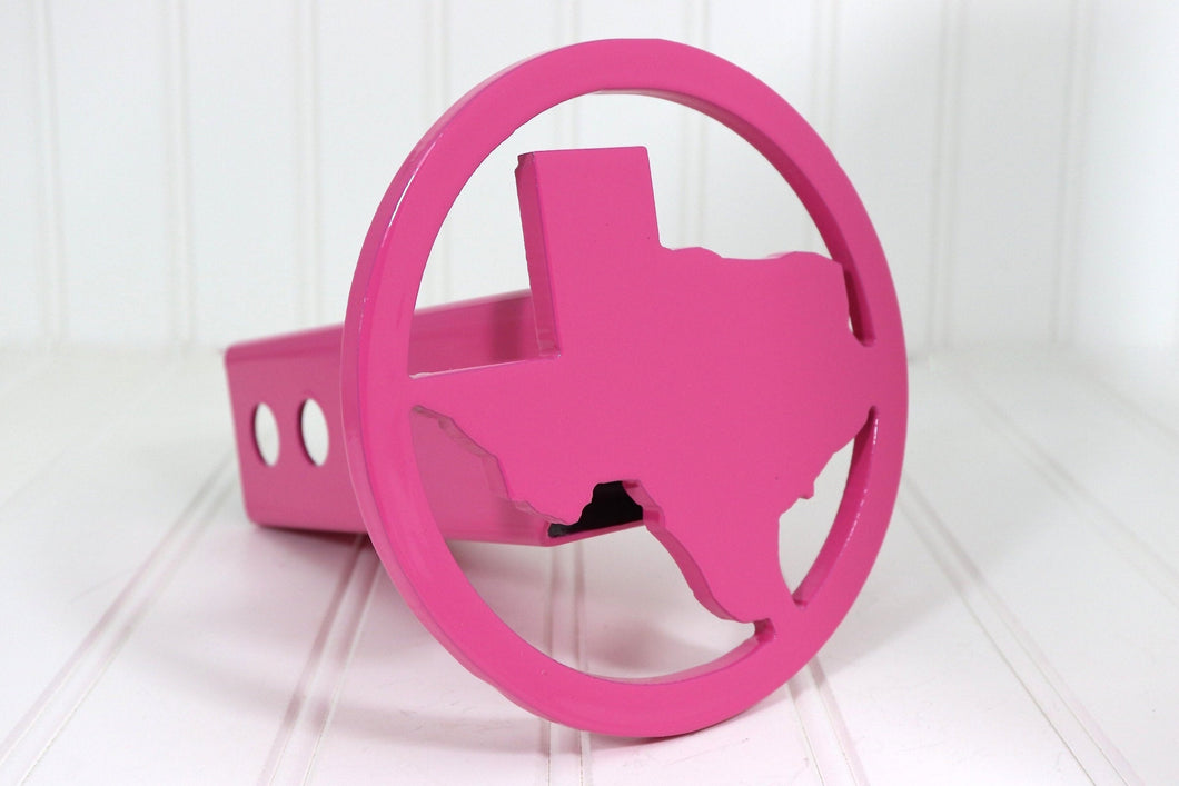 Pink Circle Texas Hitch Cover, Free Shipping