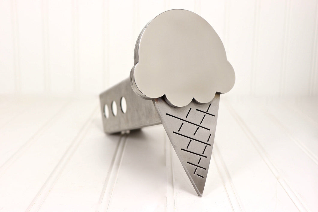 Stainless Steel Ice Cream Cone Hitch Cover, Free Shipping