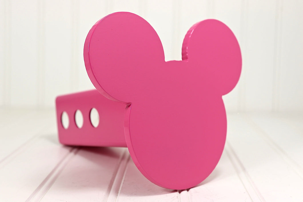 Pink Mickey Mouse Ears Hitch Cover, Free Shipping