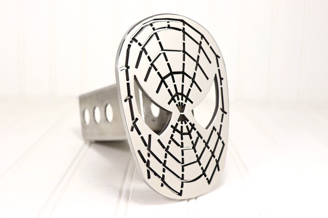 Stainless Spider Man Hitch Cover, Free Shipping