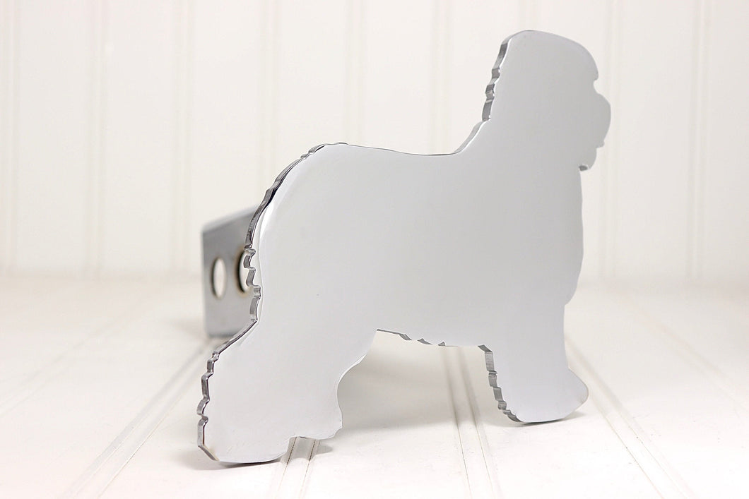 Chrome Old English Sheepdog Hitch Cover, Free Shipping