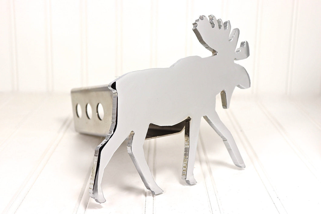 Chrome Moose Hitch Cover, Free Shipping
