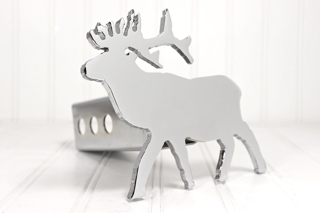 Chrome Elk Hitch Cover, Free Shipping