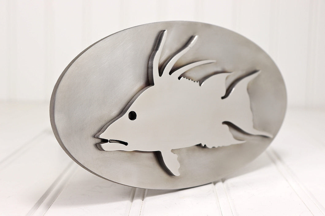 Stainless Steel Hogfish Hitch Cover, Free Shipping