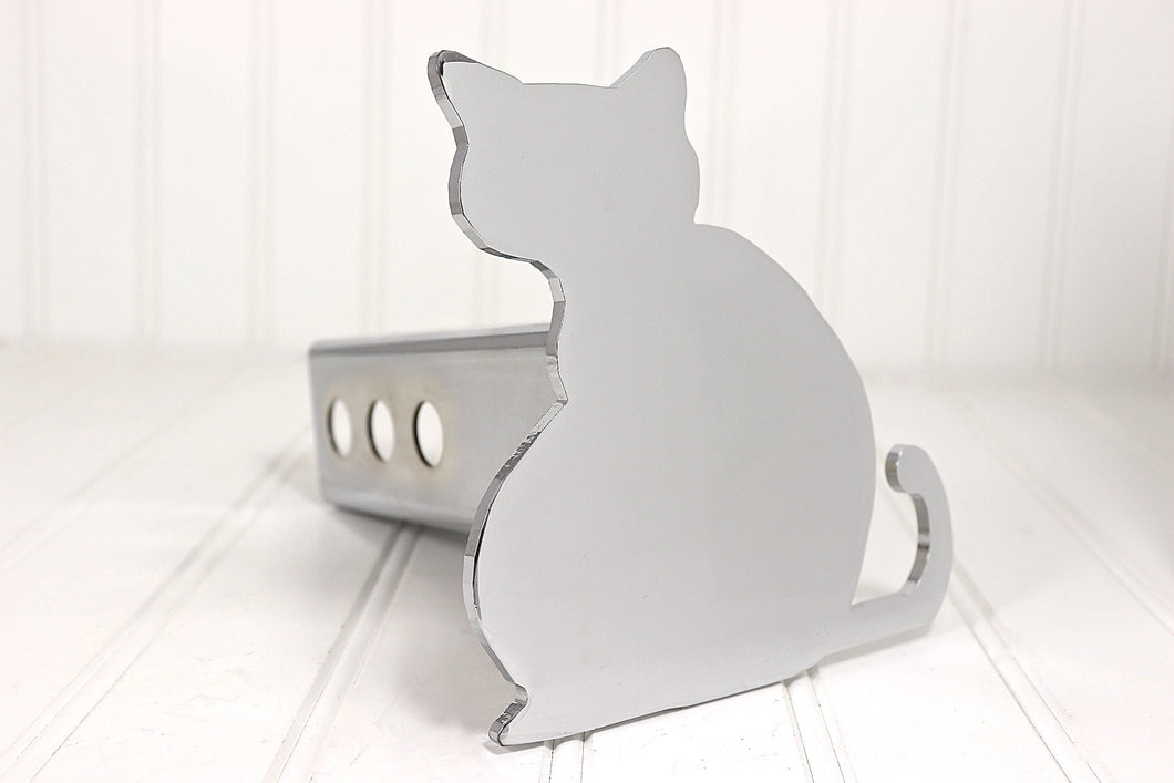 Chrome Cat Hitch Cover, Free Shipping