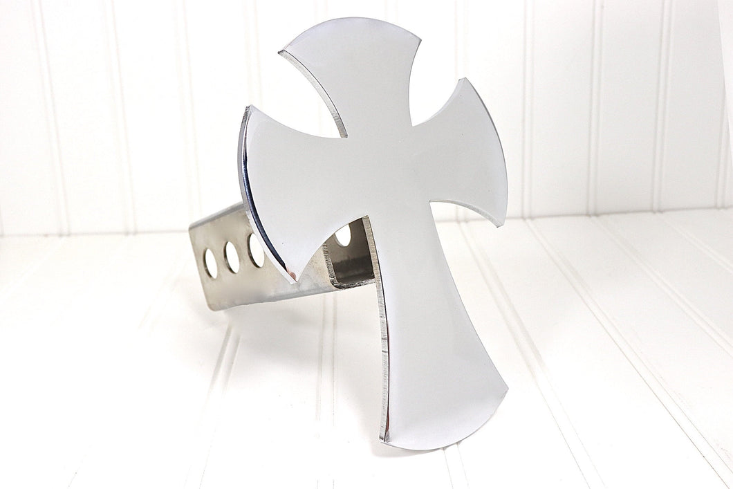 Chrome Cross Hitch Cover, Free Shipping