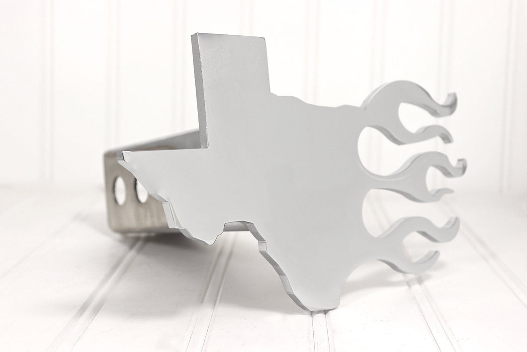Chrome Texas Flames Hitch Cover, Free Shipping
